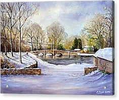 Winter In Ashford Acrylic Print by Andrew Read
