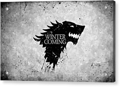 Winter Is Coming Acrylic Print by Florian Rodarte