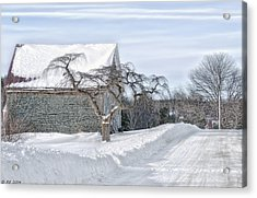 Winter Is Our Guest Acrylic Print by Richard Bean