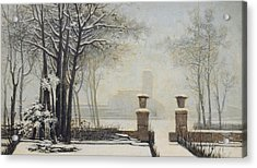 Winter Landscape Acrylic Print by Alessandro Guardassoni