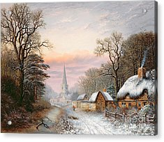 Winter Landscape Acrylic Print by Charles Leaver