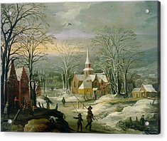 Winter Landscape Acrylic Print by Josse de Momper The Younger