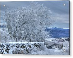Winter Landscape Near Buxton Acrylic Print by David Birchall