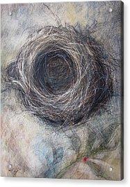 Winter Nest Acrylic Print by Tonja  Sell