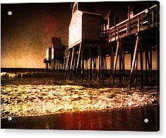 Winter Old Orchard Beach Acrylic Print by Bob Orsillo