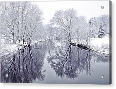 Winter Reflections Acrylic Print by Andrew Soundarajan