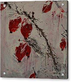 Winter Rose Hip- Abstract Acrylic Print by Ismeta Gruenwald
