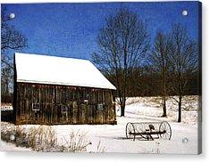 Winter Scenic Farm Acrylic Print by Christina Rollo