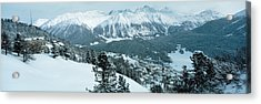 Winter, St Moritz, Switzerland Acrylic Print by Panoramic Images