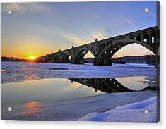 Winter Sunset Acrylic Print by Dan Myers