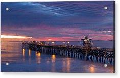 Winter Sunset San Clemente Acrylic Print by Cliff Wassmann