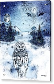 Winter White Acrylic Print by The Feathered Lady