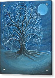 Winter Willow Acrylic Print by Beckie J Neff