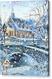 Winter Wonderland Acrylic Print by Mo T