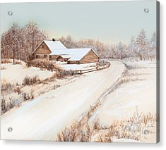 Winterness Acrylic Print by Michelle Wiarda