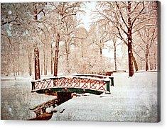 Winter's Bridge Acrylic Print by Marty Koch
