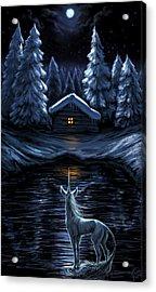 Winter's Chill Acrylic Print by Katerina Romanova