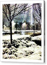 Winters Light Acrylic Print by Andrew Allsopp