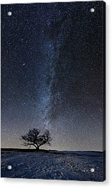 Winter's Night Acrylic Print by Aaron J Groen