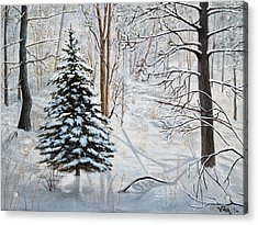Winter's Peace Acrylic Print by Vicky Path