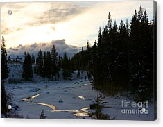 Winter's Sunrise Acrylic Print by Birches Photography