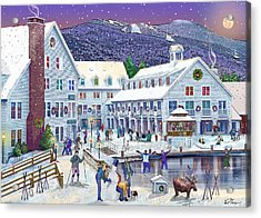 Wintertime At Waterville Valley New Hampshire Acrylic Print by Nancy Griswold