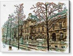 Wintertime Sadness Acrylic Print by Ayse Deniz