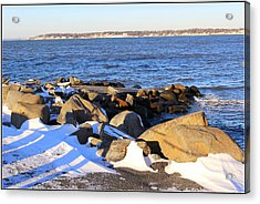 Wintry Day At The Bay Acrylic Print by Dora Sofia Caputo Photographic Art and Design
