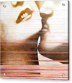 Wipe Acrylic Print by Sandra Cohen