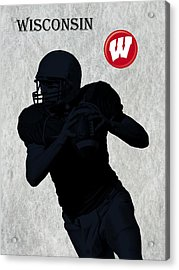 Wisconsin Football Acrylic Print by David Dehner