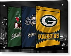 Wisconsin Sports Teams Acrylic Print by Joe Hamilton