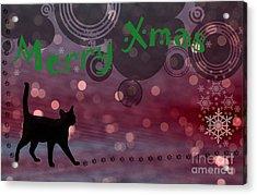 Wishing You All A Purrfect Xmas... Acrylic Print by Nina Stavlund
