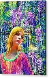 Wisteria Acrylic Print by Jane Small