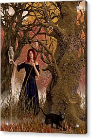 Witch Of The Autumn Forest  Acrylic Print by Daniel Eskridge