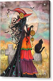 Witch Way Acrylic Print by Molly Harrison