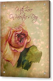 With Love On Valentine's Day Acrylic Print by Shirley Sirois