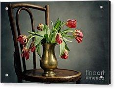 Withered Tulips Acrylic Print by Nailia Schwarz
