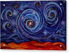 Witness Acrylic Print by Kathy Peltomaa Lewis