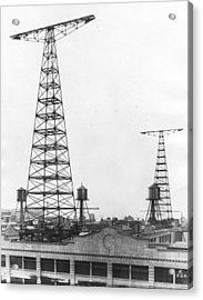 Wny Radio Station Towers Acrylic Print by Underwood Archives