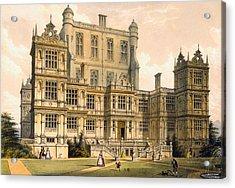Wollaton Hall, Nottinghamshire, 1600 Acrylic Print by Joseph Nash