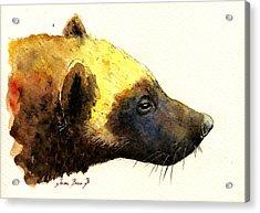 Wolverine Acrylic Print by Juan  Bosco