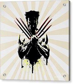 Wolverine Acrylic Print by Mark Ashkenazi