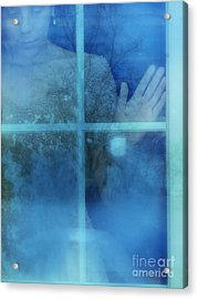 Woman At A Window Acrylic Print by Jill Battaglia
