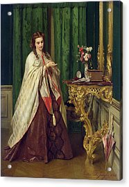 Woman At Her Toilet Acrylic Print by Gustave Leonard de Jonghe