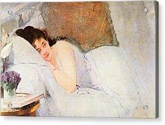 Woman Awakening Acrylic Print by Eva Gonzales