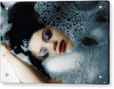 Woman In Bath Horizontal Acrylic Print by Tony Rubino