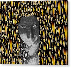 Woman In Flames Acrylic Print by Pepita Selles