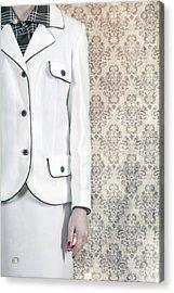 Woman In Skirt Suit Acrylic Print by Joana Kruse