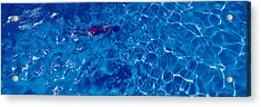 Woman In Swimming Pool Acrylic Print by Panoramic Images