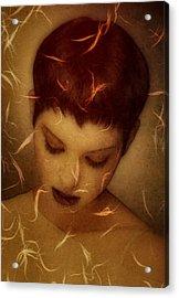 Woman Portrait Acrylic Print by Gun Legler